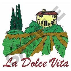 LA DOLCE VITA embroidery design