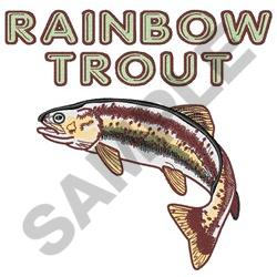 LARGE RAINBOW TROUT embroidery design