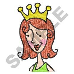 WOMAN WITH CROWN embroidery design