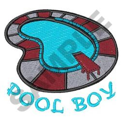 POOL BOY embroidery design