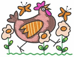 EGG FLOWERS & CHICKEN embroidery design