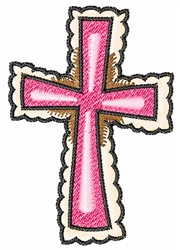LACY CROSS embroidery design
