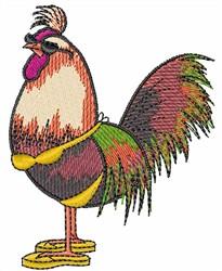 ROOSTER IN A BIKINI embroidery design