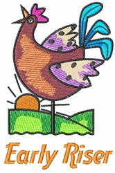EARLY RISER embroidery design