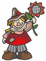SCARECROW WITH SUNFLOWER embroidery design