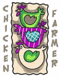 CHICKEN FARMER embroidery design