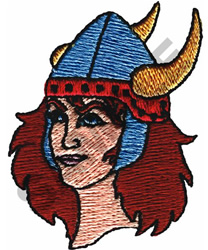 LADY VIKING embroidery design