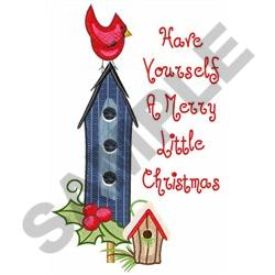 MERRY LITTLE CHRISTMAS embroidery design