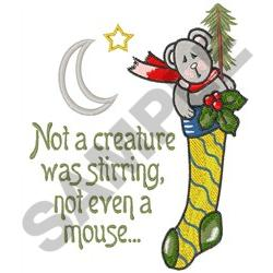 NOT  A CREATURE embroidery design