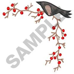 CROW AND BERRY BORDER embroidery design