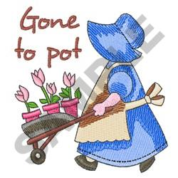 GONE TO POT embroidery design