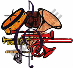 INSTRUMENT MONTAGE embroidery design