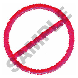 """""""NO"""" SIGN embroidery design"""