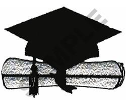 CAP & DIPLOMA embroidery design