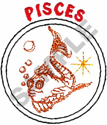 PISCES embroidery design