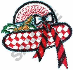 LADIES FASHION HAT embroidery design