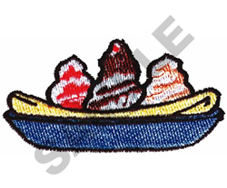 BANANA SPLIT embroidery design