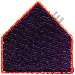 SCHOOL CROSSING SIGN embroidery design