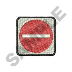 NO WAY embroidery design