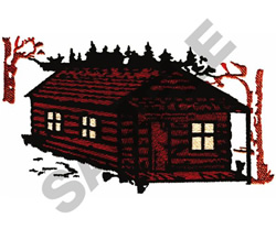 LOG CABIN embroidery design