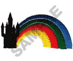 CASTLE & RAINBOW embroidery design
