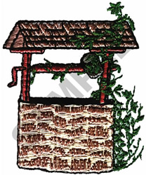 WISHING WELL embroidery design