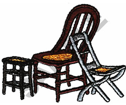 CHAIRS embroidery design
