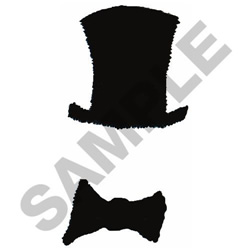 TOP HAT & BOW TIE embroidery design
