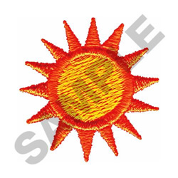 SUNBURST embroidery design