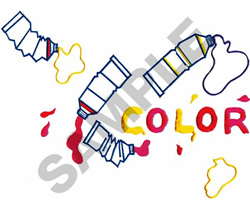COLOR PAINT TUBES embroidery design