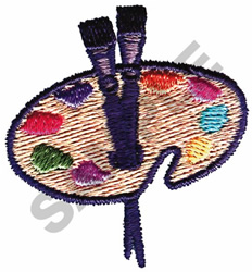 PAINT PALETTE embroidery design
