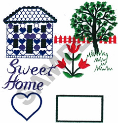 SWEET HOME embroidery design
