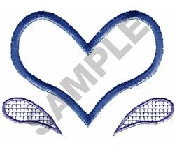 HEART SPLASH APPLIQUE embroidery design