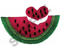 HEART MELON embroidery design