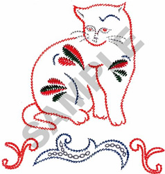 DECORATED CAT embroidery design