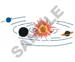 PLANETS & SUN embroidery design
