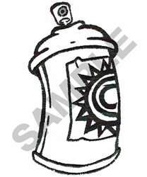 SPRAY CAN embroidery design