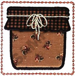 FRAMED JELLY JAR embroidery design