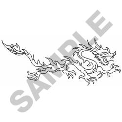 CHINESE DRAGON OUTLINE embroidery design