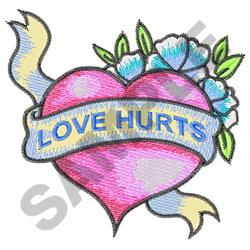 HEART BANNER embroidery design