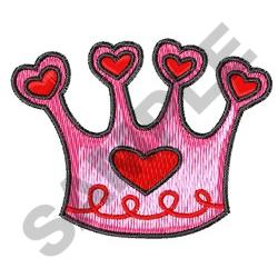 CROWN WITH HEARTS embroidery design
