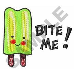 BITE ME POPSICLE embroidery design