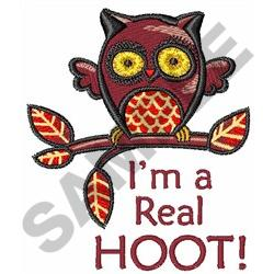 IM A REAL HOOT embroidery design