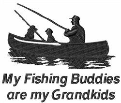 FISHING BUDDIES ARE GRANDKIDS embroidery design