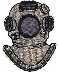 DIVING HELMET embroidery design
