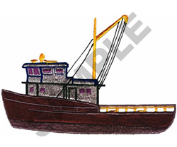 FISHING TRAWLER embroidery design