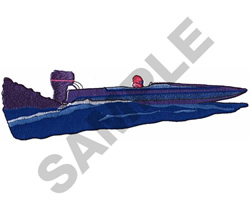RACEBOAT embroidery design
