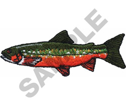 ARCTIC CHAR embroidery design