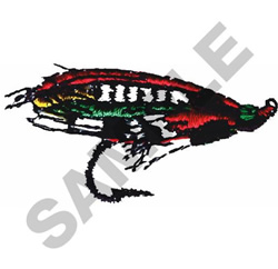 FLYFISHING FLY embroidery design