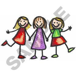 STICK CHILDREN embroidery design